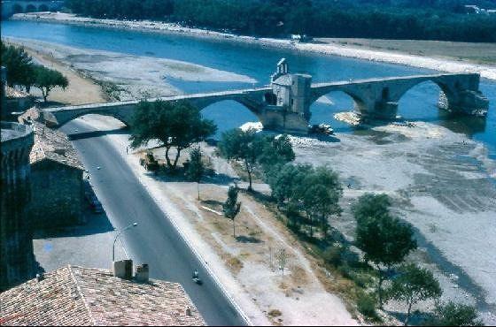Bridge from Promenade du Rocher de Doms in 1964