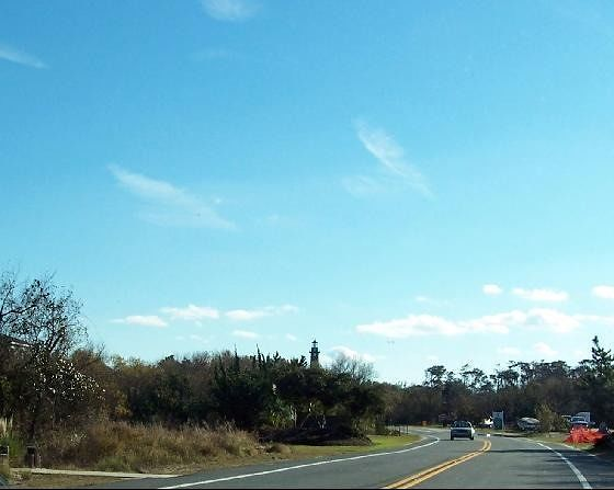 Currituck Light from road in Corolla