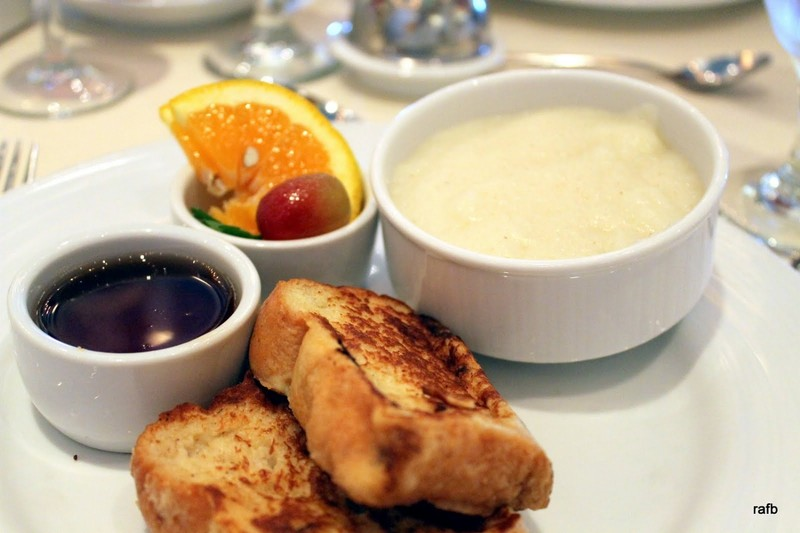 Cream of wheat and French toast
