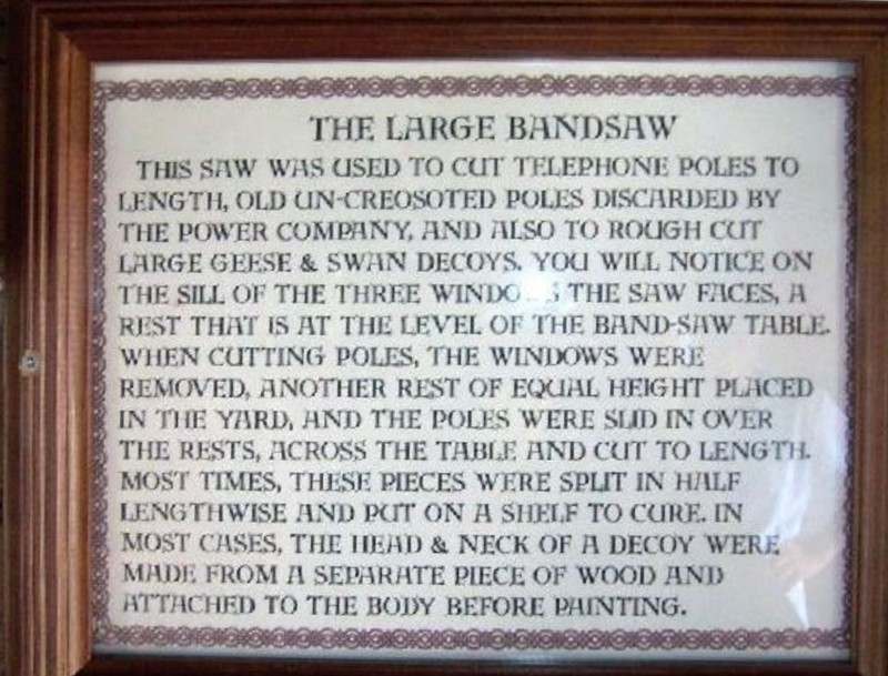 Sign about the bandsaw