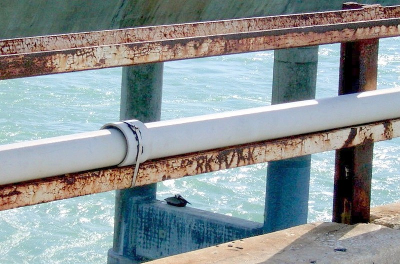 Water pipe that brought water to the keys from the mainland