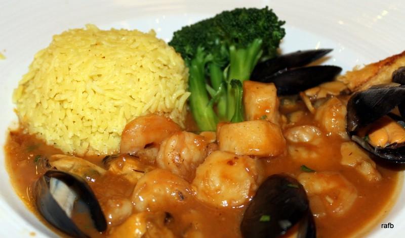 Seafood newburg style