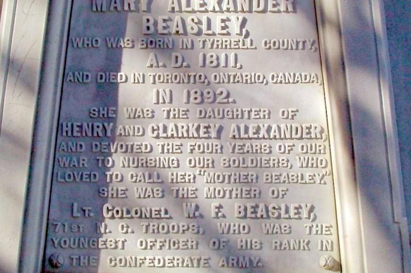 To Mary Alexander Beasley