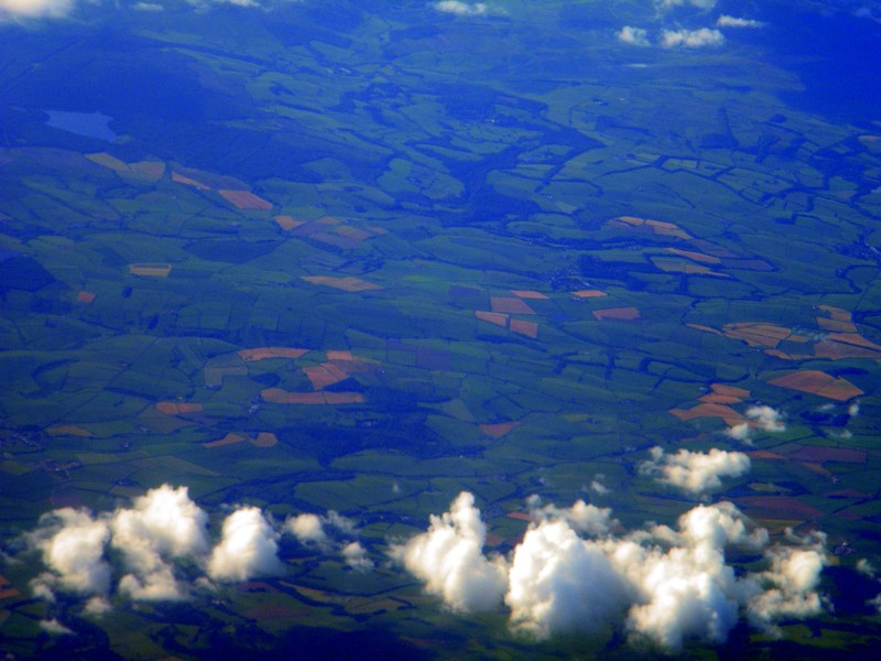 Europe from a plane