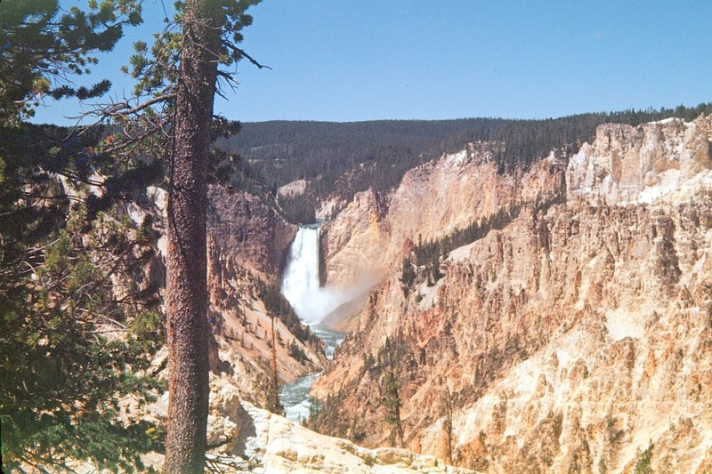Grand Canyon of Yellowstone 1948- Lower Falls