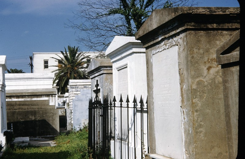 the above ground tombs in the cemeteries