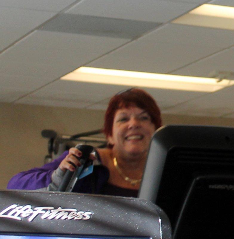 Polly exercising