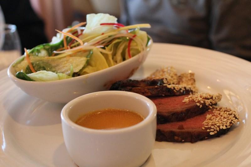 Mongolian steak salad
