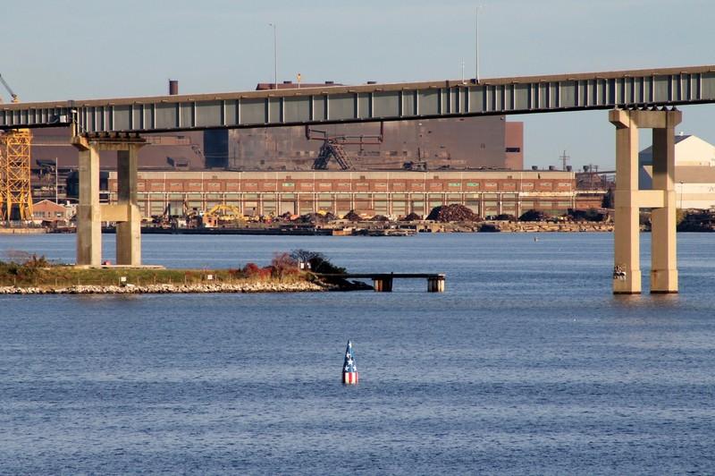 Approaching Key Bridge and FSKey buoy