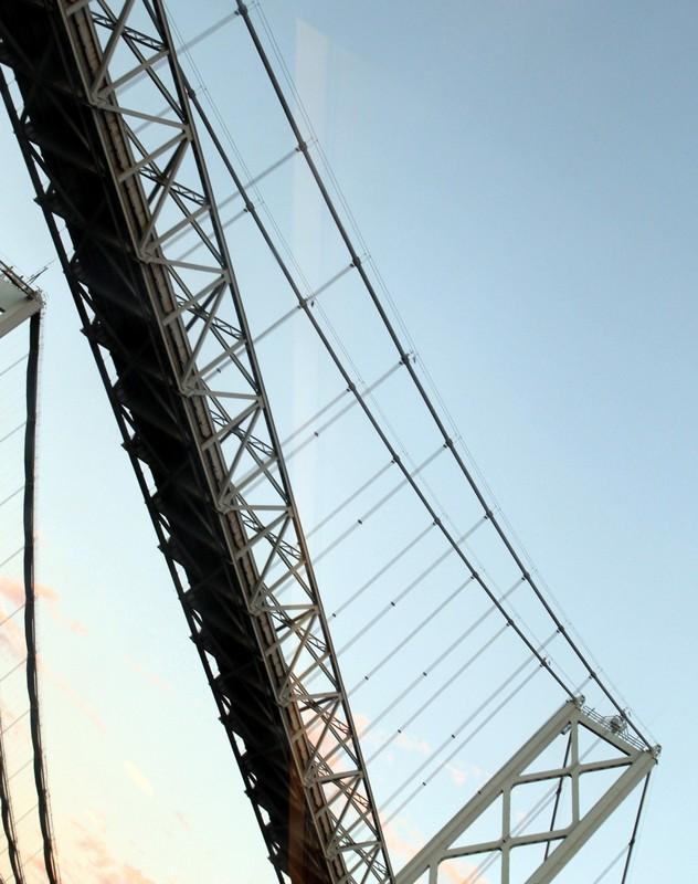 Looking up at the Bay Bridge