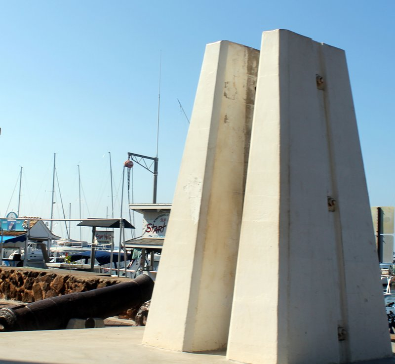 Structure which will be on each side of the new flagpole