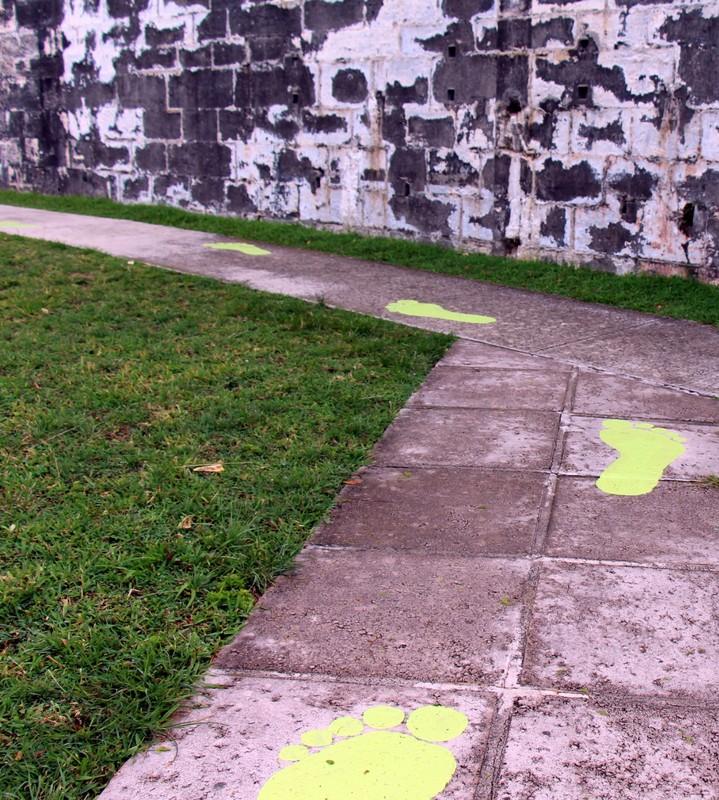 Following the footprints