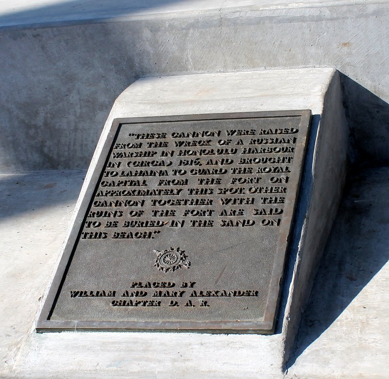 Sign about the cannon