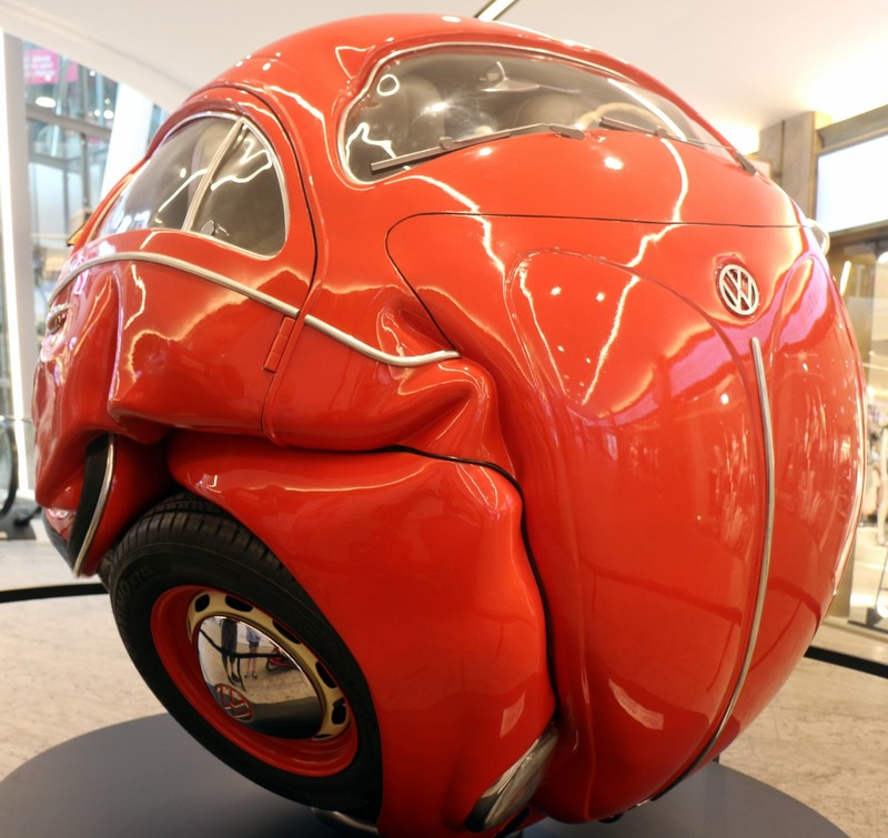 VW sculpture in the mall