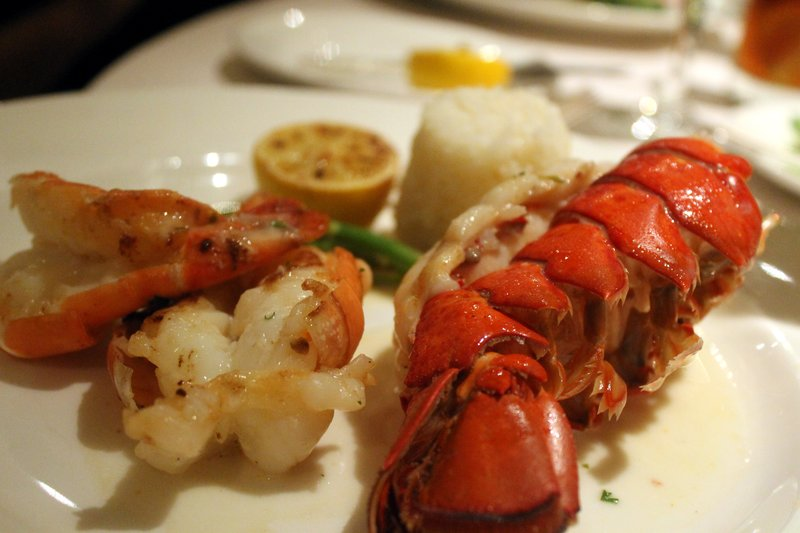 Lobster tail and king prawns - Dinner Nov 7 - the lobster was good