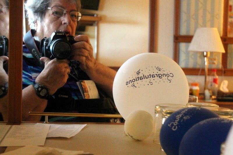 Birthday balloon selfie