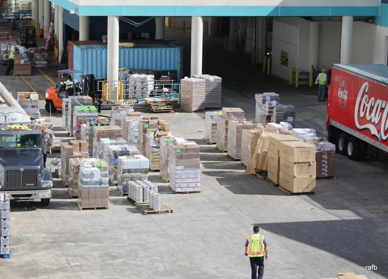 Taking on supplies in Port Canaveral