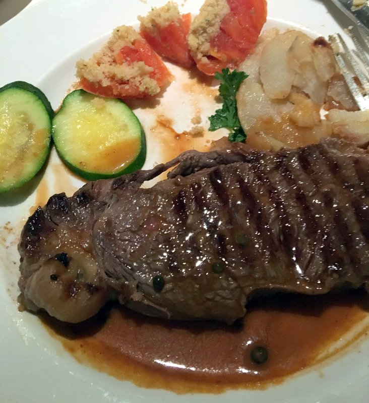 Nov 8 - strip steak - a little more gristle than the other beef dishes