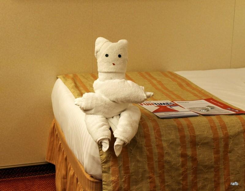 Towel animal - a bear?