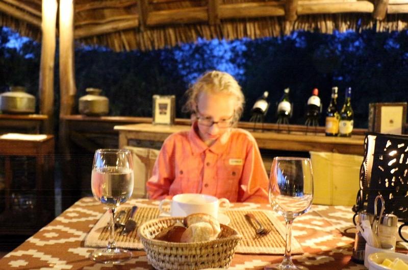 Granddaughter at dinner