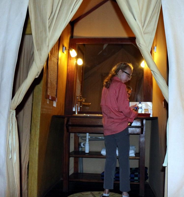 Bathroom in  Mawenga Camp.