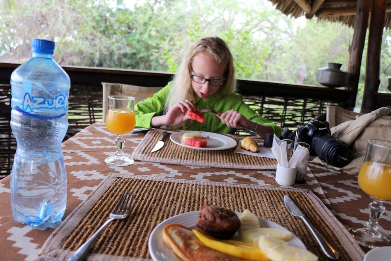 Granddaughter's watermelon breakfast