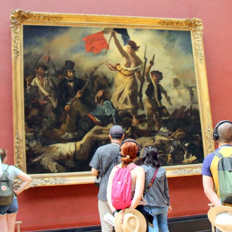 Le 28 Julliet: La Liberte guidant le peuple by Eugene Delacroix