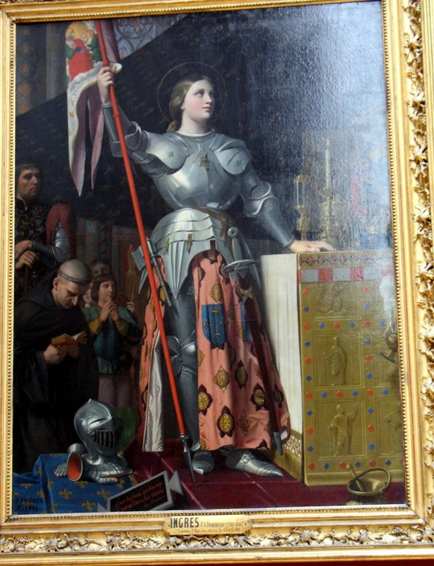 Joan of Arc at the Coronation of King Charles VII in Reims Cathedral by Jean-Auguste-Dominique INGRES
