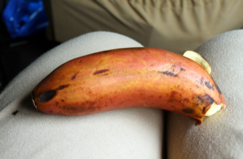 red skinned banana