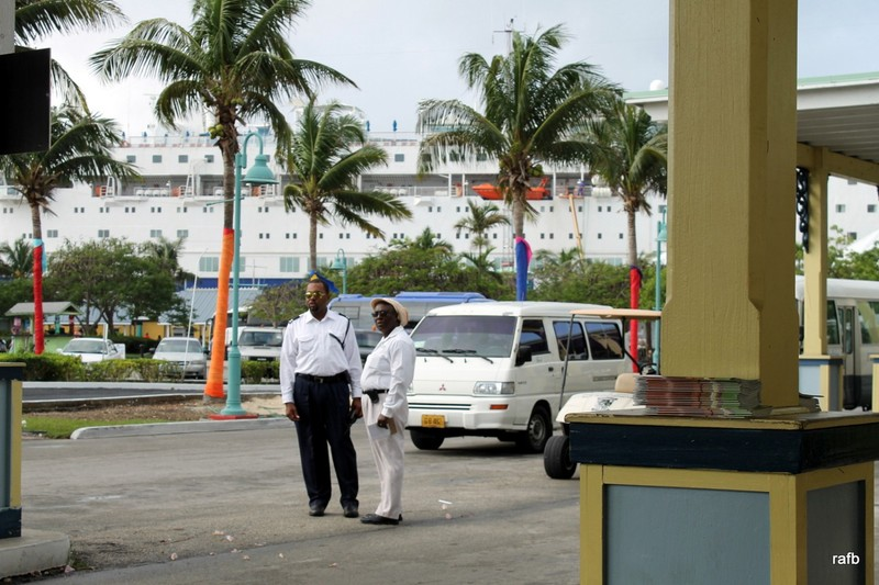 Taxi dispatchers - Carnival Pride in background