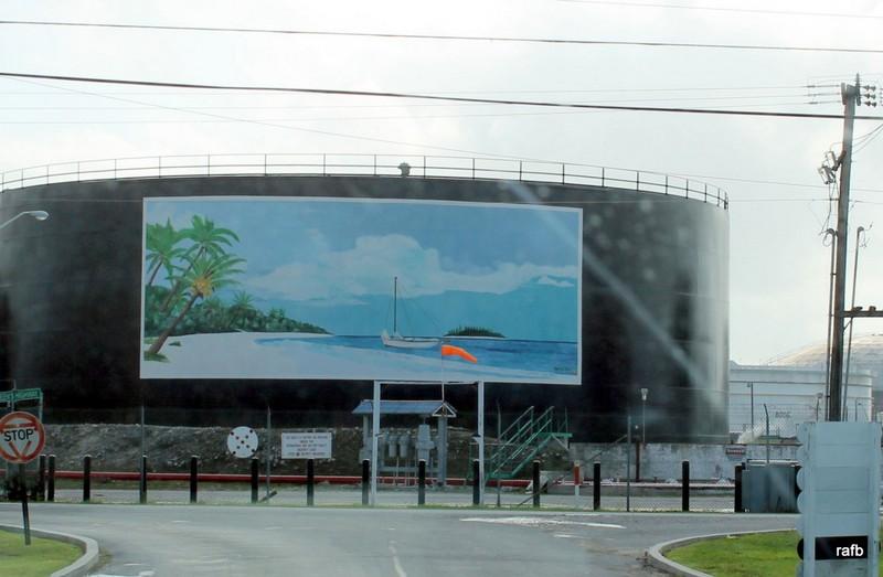 Picture of a Junkanoo Beach on an oil tank