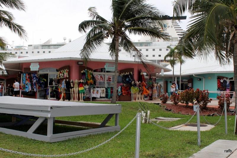 Shops around dock
