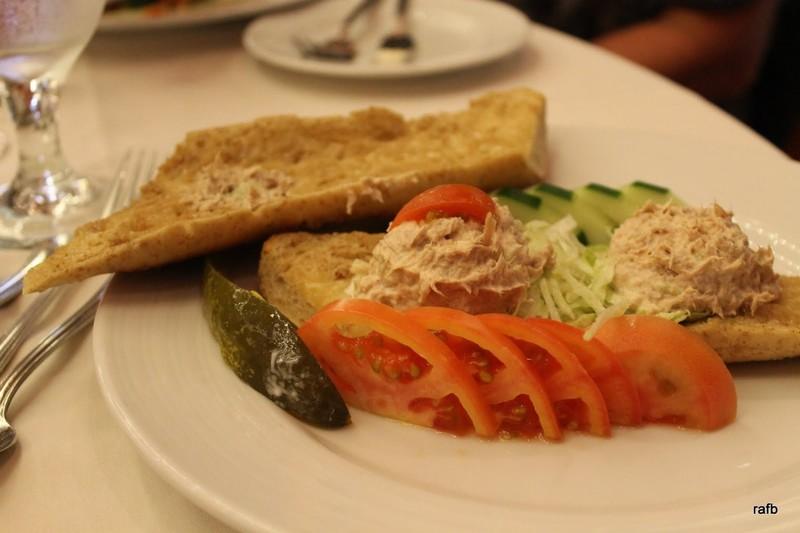 Tuna salad baguette