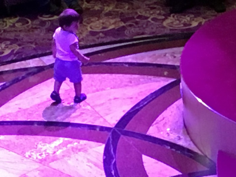 Child on the dance floor