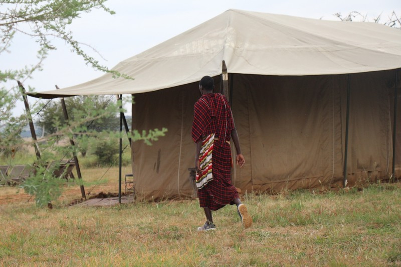 Maasai in camp