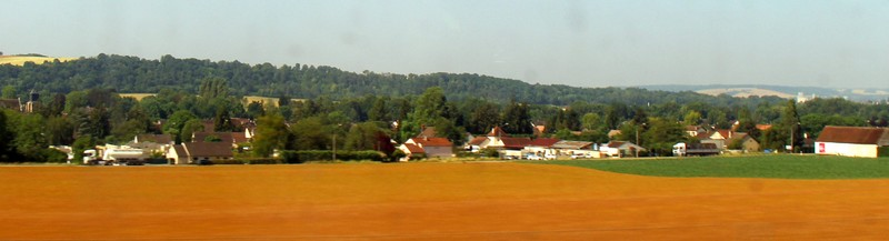 From the speeding train