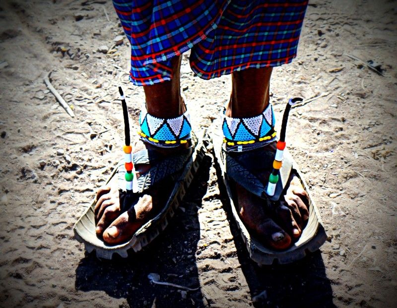 Maasai shoes - he's the best jumper