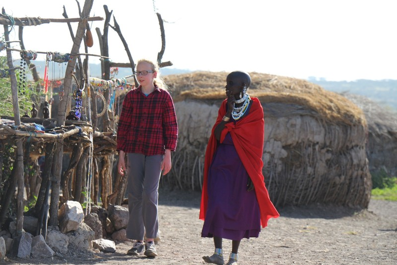 Granddaughter with Maasai woman