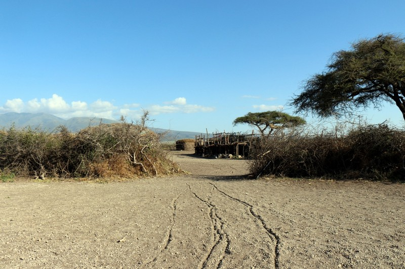 Leaving the Maasai village