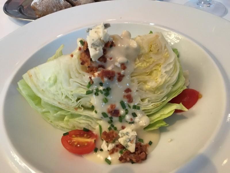 Wedge of iceberg lettuce