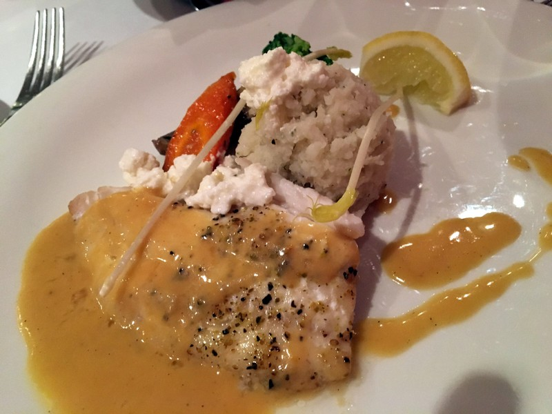 Sea bream Fillet with goat cheese