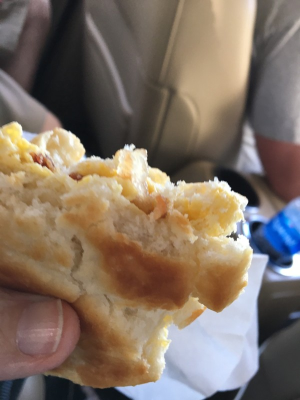 Fast food breakfast sandwich