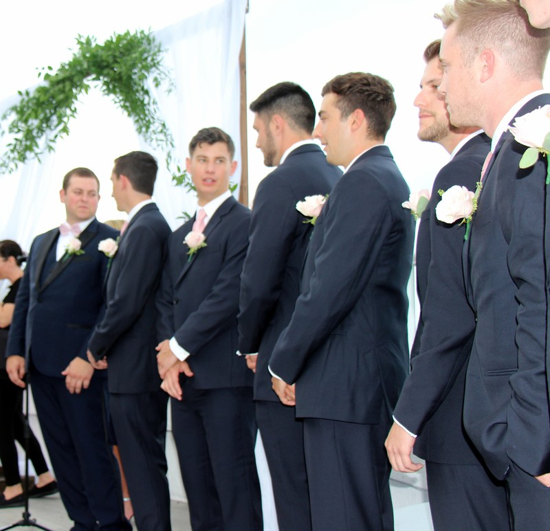 Groom and groomsmen (from my seat)