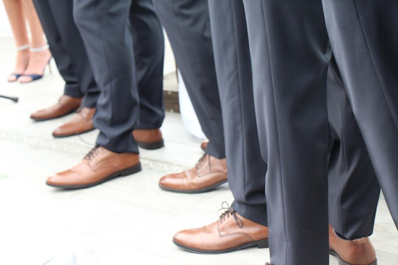 Shoes of the groomsmen