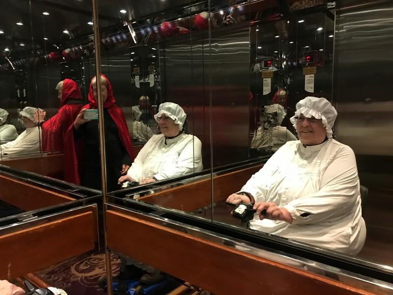 Elevator selfies