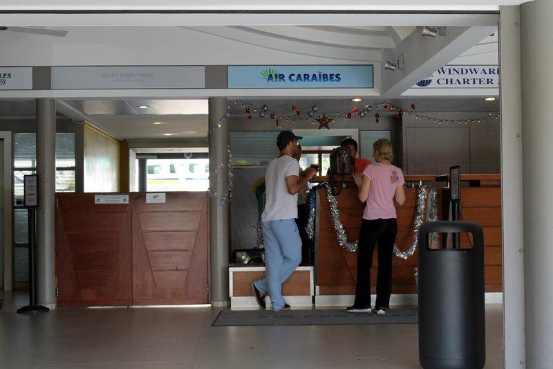 Air Caraibs ticket counter
