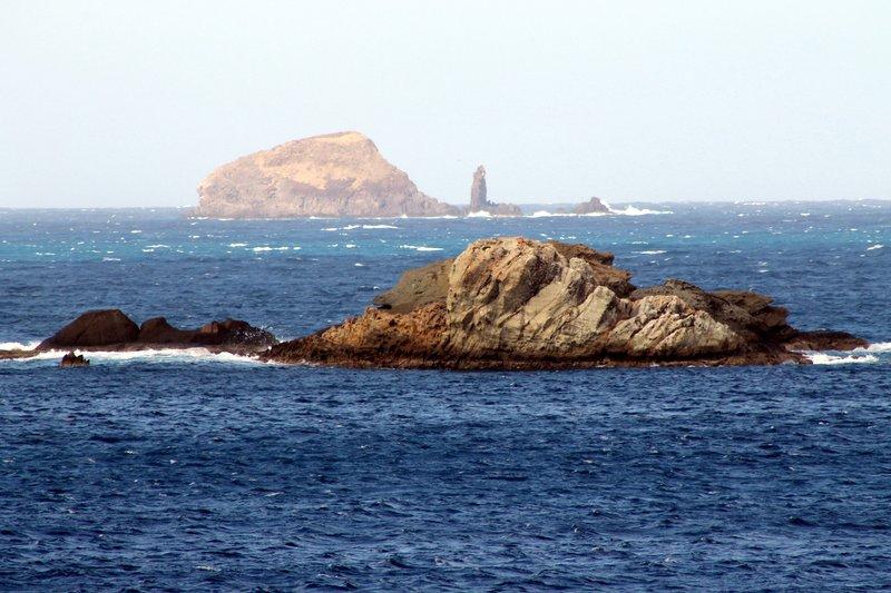Rocky shore edge