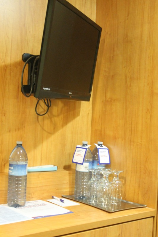 TV and plastic water bottles