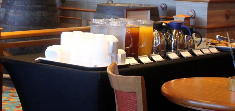Juice bar and coffee at the meeting