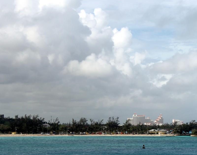 Atlantis resort in the distance